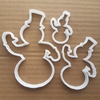 Picture of Snowman Cookie Cutter Xmas Dough Biscuit Pastry Christmas Snow Man Winter Ice Stencil Fondant Sharp Shape