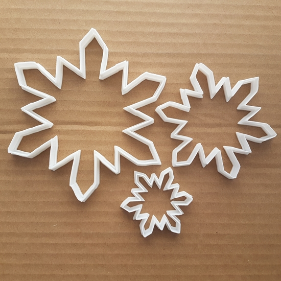 Picture of Snowflake Cookie Cutter Snow Flake Dough Pastry Biscuit Winter Christmas Xmas Stencil Fondant Sharp Sharp
