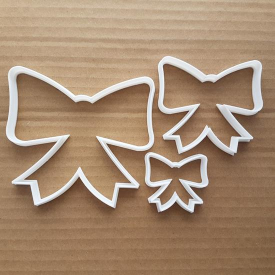 Bow Shape Cookie Cutter Ribbon Pastry Biscuit Xmas Christmas Birthday Gift Stencil Sharp Dough Fondant