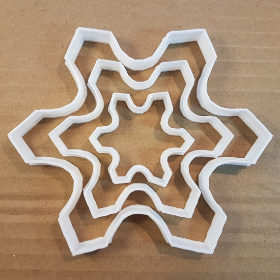 Picture of Snowflake Cookie Cutter Dough Pastry Biscuit Winter Xmas Christmas Snow Ice Flake Stencil Sharp