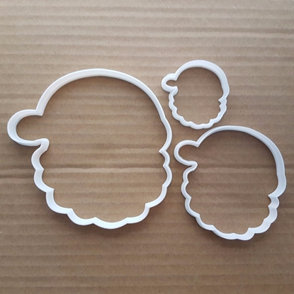 Santa Christmas Hat Beard Shape Cookie Cutter Dough Biscuit Pastry Fondant Sharp Stencil Xmas Head Claus Father