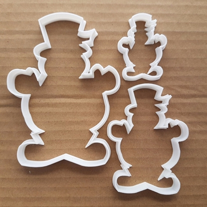 Snowman Hat Christmas Shape Cookie Cutter Dough Biscuit Pastry Fondant Sharp Stencil Xmas Snow Man Winter