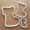 Stocking Christmas Gift Shape Cookie Cutter Dough Biscuit Pastry Fondant Sharp Stencil Xmas Santa Presents