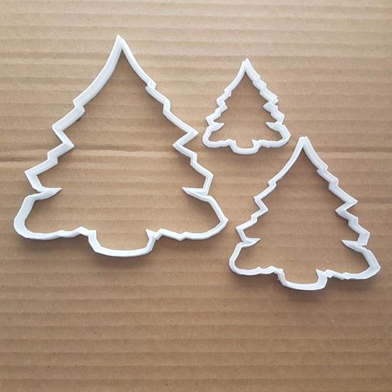 Christmas Evergreen Pine Shape Cookie Cutter Dough Biscuit Pastry Fondant Sharp Tree Stencil Xmas Plant