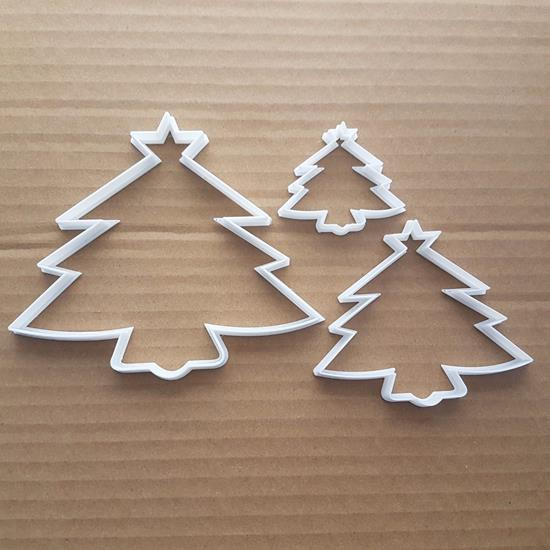 Christmas Tree Star Shape Cookie Cutter Dough Biscuit Pastry Fondant Sharp Stencil Xmas Plant Fir