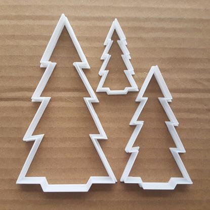 Christmas Tree Fern Plant Shape Cookie Cutter Dough Biscuit Pastry Fondant Sharp Xmas Stencil Winter