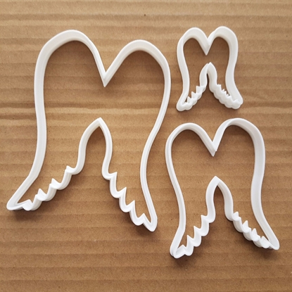 Angel Wings Christmas Shape Cookie Cutter Dough Biscuit Pastry Fondant Sharp Stencil Xmas Fairy Holy