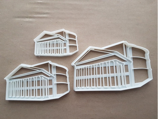 Roman Pantheon Temple Church Rome Italy Shape Cookie Cutter Dough Fondant Sharp Stencil Italian Building Landmark