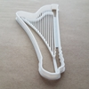 Harp Instrument Music Shape Cookie Cutter Dough Biscuit Pastry Fondant Sharp Stencil Musical String