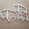 Buffalo Bison Water Cattle Shape Cookie Cutter Dough Biscuit Fondant Sharp Stencil Cow Farm Animal Pastry American