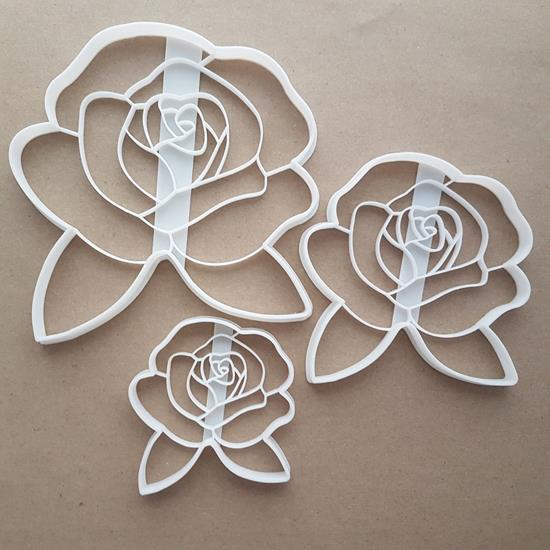 Rose Flower Garden Leaf Shape Cookie Cutter Dough Biscuit Pastry Fondant Sharp Stencil Plant Floral Petals