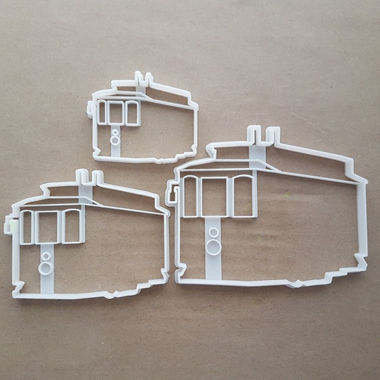 Tram Train Trolley Rail Shape Cookie Cutter Dough Biscuit Pastry Fondant Sharp Stencil Cart Vehicle Carriage