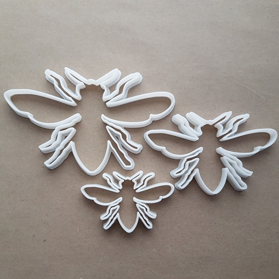 Fly Insect Bug Pest Shape Cookie Cutter Dough Biscuit Pastry Fondant Sharp Stencil Garden Animal Wasp Bee