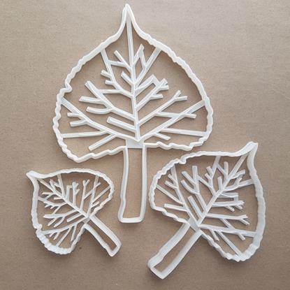 Cotton Leaf Plant Tree Shape Cookie Cutter Dough Biscuit Pastry Fondant Sharp Stencil Leaves Cottonwood Garden