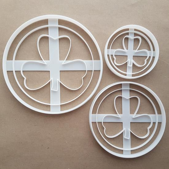 Gold Coin Clover Ireland Shape Cookie Cutter Dough Biscuit Pastry Fondant Sharp Stencil Goldcoin Cryptocurrency Crypto Virtual Money