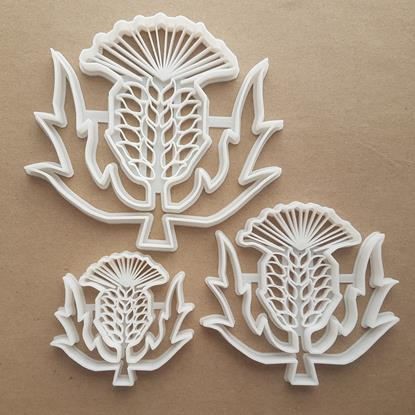 Thistle Flower Plant Shape Cookie Cutter Dough Biscuit Pastry Fondant Sharp Stencil Wild Spiky Weed Garden