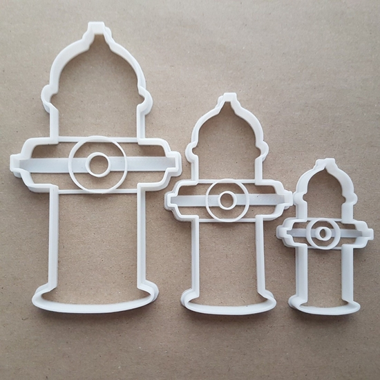 Fire Hydrant Emergency Shape Cookie Cutter Dough Biscuit Pastry Fondant Sharp Stencil American Street Water Pump Engine