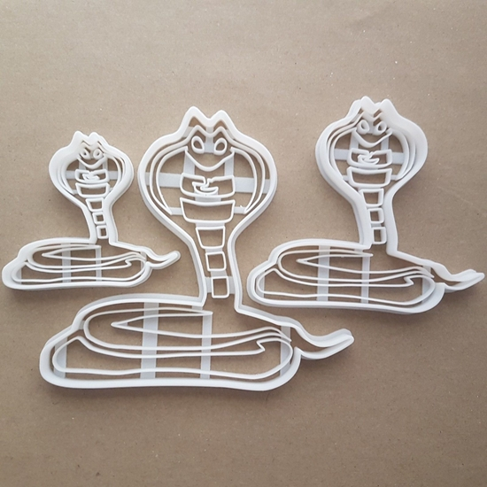 Cobra Snake Hood Shape Cookie Cutter Dough Biscuit Pastry Fondant Sharp Stencil Animal Charmer Reptile