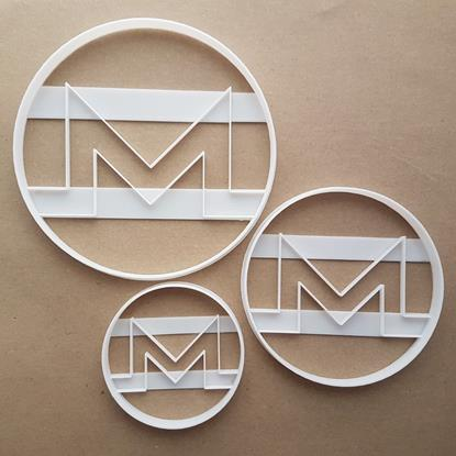 Monero Crypto XMR Currency Blockchain Shape Cookie Cutter Pastry Fondant Sharp Stencil Electronic Cash Cryptocurrency Virtual Money