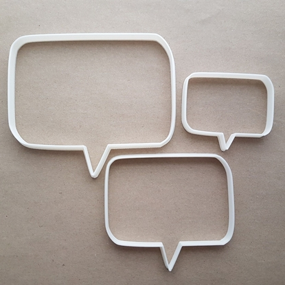 Speech Bubble Cartoon Shape Cookie Cutter Dough Biscuit Pastry Fondant Sharp Stencil Comic Thought Writing