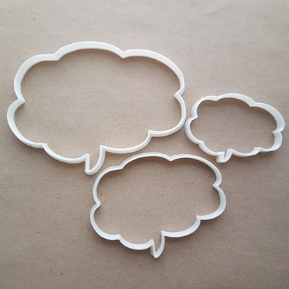 Speech Bubble Brain Shape Cookie Cutter Dough Biscuit Pastry Fondant Sharp Stencil Thought Comic Writing