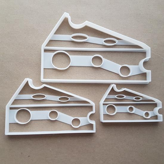 Cheese Wedge Slice Food Shape Cookie Cutter Dough Biscuit Pastry Fondant Sharp Stencil Snack Mouse Holey Holes