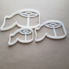 Toilet Paper Roll Loo Shape Cookie Cutter Dough Biscuit Pastry Fondant Sharp Stencil Funny Joke Bathroom Novelty