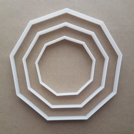 Nonagon Nine Side Polygon Shape Cookie Cutter Dough Biscuit Pastry Fondant Sharp Sided Stencil Basic Maths Mathematics Enneagon
