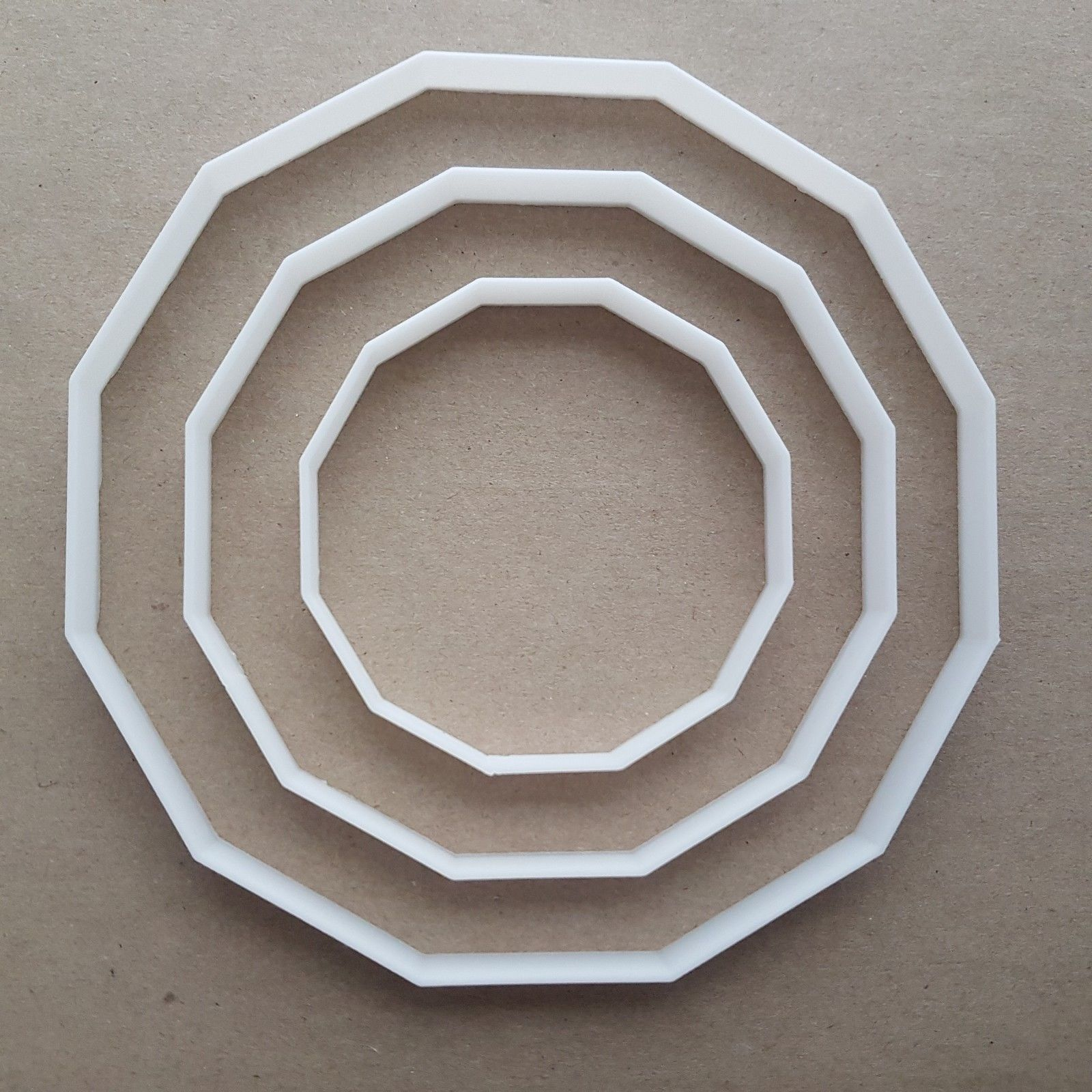 Dodecagon Twelve Side Polygon Shape Cookie Cutter Dough Biscuit Fondant  Sharp Stencil Basic Maths Mathematics Sided