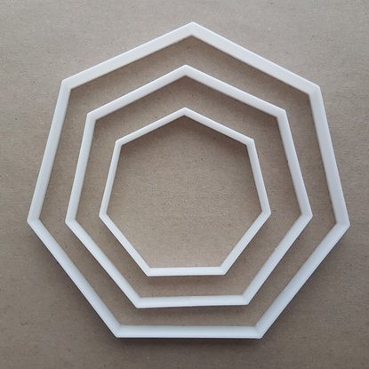 Heptagon Seven Side Polygon Shape Cookie Cutter Dough Biscuit Fondant Sharp Stencil Basic Maths Mathematics 7 Sided