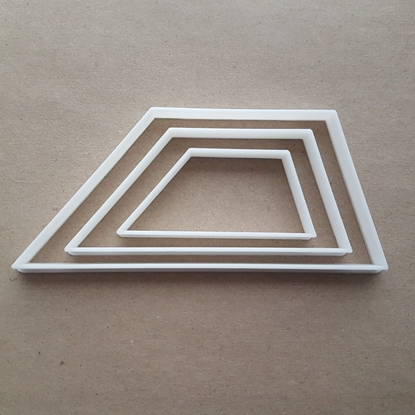Trapezoid Basic Geometry Shape Cookie Cutter Dough Biscuit Pastry Fondant Sharp Stencil Basic Maths Mathematics Sided 4 Four