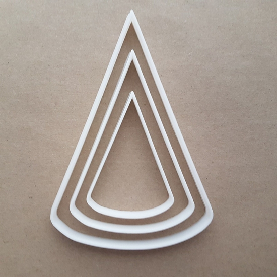 Cone Apex Pyramid Shape Cookie Cutter Dough Biscuit Pastry Fondant Sharp Stencil Basic Maths Birthday Hat Party Mathematics
