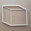Cube Box Parcel Package Shape Cookie Cutter Dough Biscuit Pastry Fondant Sharp Stencil Block 3D Basic Maths Mathematics
