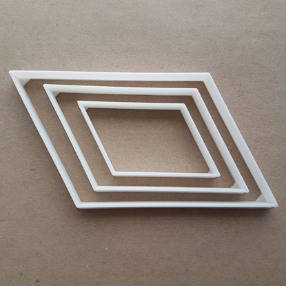 Parallelogram Equal Shape Cookie Cutter Dough Biscuit Pastry Fondant Sharp Stencil Basic Maths Mathematics 4 Side Sided