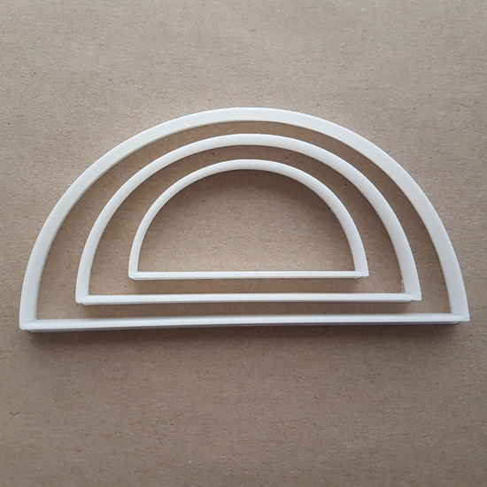 Semicircle Curve Half Rainbow Shape Cookie Cutter Dough Biscuit Pastry Fondant Sharp Stencil Semi Circle Basic Maths Mathematics
