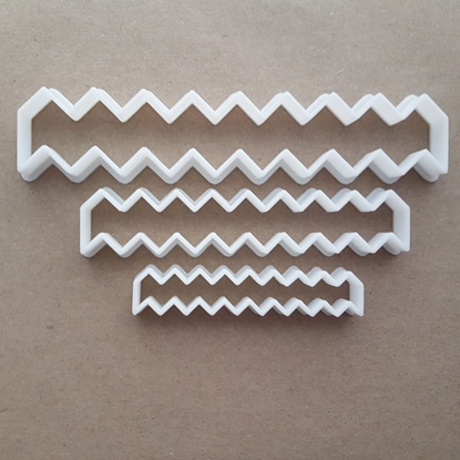 Zig Zag Pattern Stitch Shape Cookie Cutter Dough Biscuit Pastry Fondant Sharp Stencil Zigzag Lines