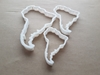 South America Map Country Shape Cookie Cutter Dough Biscuit Pastry Fondant Sharp Stencil Southern American Atlas Continent Outline