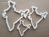 India Map Country Indian Shape Cookie Cutter Dough Biscuit Pastry Fondant Sharp Atlas Stencil Outline
