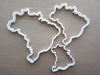 Brazil Country Map Shape Cookie Cutter Dough Biscuit Pastry Fondant Sharp Stencil Brazilian Atlas Outline Brasilia