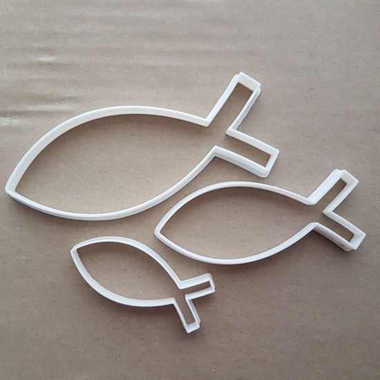 Ichthys Symbol Christian Religion Fish Shape Cookie Cutter Dough Fondant Sharp Stencil Icon Religious Church