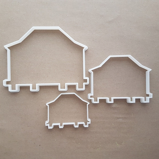House Beach Holiday Hut Cabin Shape Cookie Cutter Dough Biscuit Fondant Sharp Stencil Home Shack Bungalow