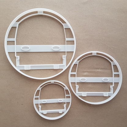 Tube Train Underground Shape Cookie Cutter Dough Biscuit Pastry Fondant Sharp Stencil Symbol Front Tram Railway