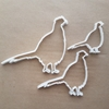 Pheasant Bird Gold Silver Shape Cookie Cutter Dough Biscuit Pastry Fondant Sharp Stencil Animal Poultry Wild