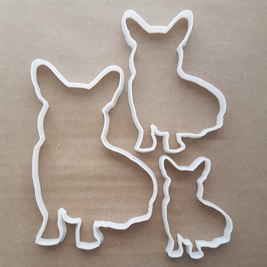 Dog Corgi Royal Pet Shape Cookie Cutter Dough Biscuit Pastry Fondant Sharp Stencil Animal Puppy Pooch