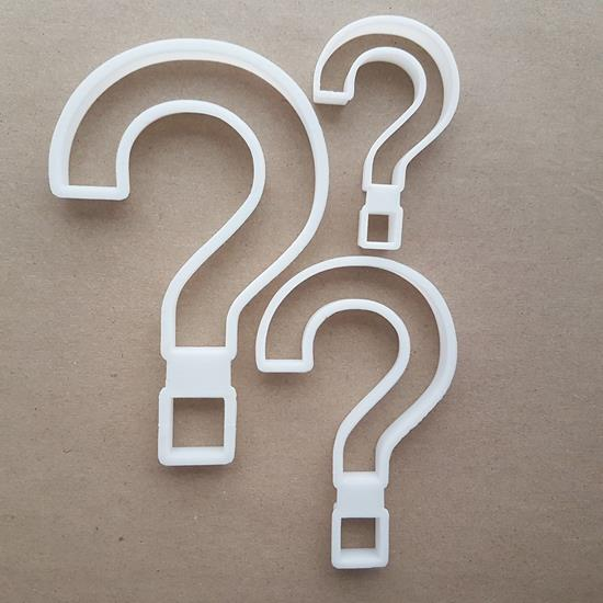 Question Mark Punctuation Shape Cookie Cutter Dough Biscuit Pastry Fondant Sharp Stencil Writing Text Character