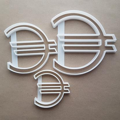 Euro Currency Symbol Icon Shape Cookie Cutter Dough Biscuit Pastry Fondant Sharp Stencil Cash Money Sign