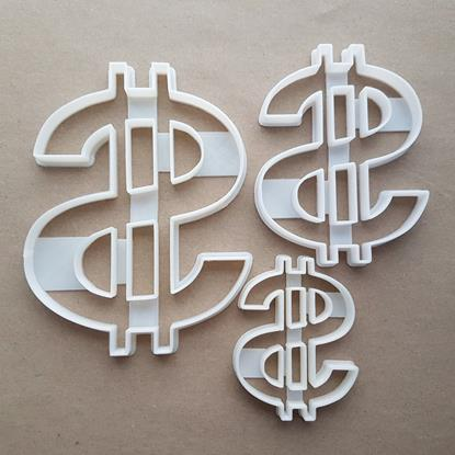 Dollar Currency USA Coin Shape Cookie Cutter Dough Biscuit Pastry Fondant Sharp Stencil Bill United States of America American Canadian