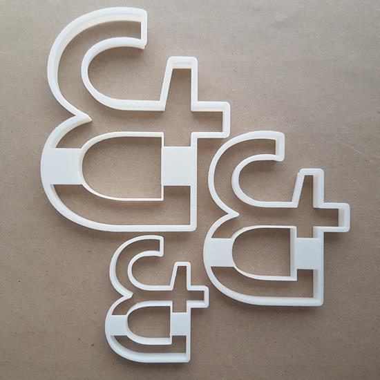 Ampersand & And Latin Shape Cookie Cutter Dough Biscuit Pastry Fondant Sharp Stencil Writing Text Character Symbol