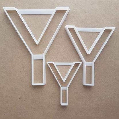 Alphabet Letter Y Upper Shape Cookie Cutter Dough Biscuit Pastry Fondant Sharp Stencil Writing Case