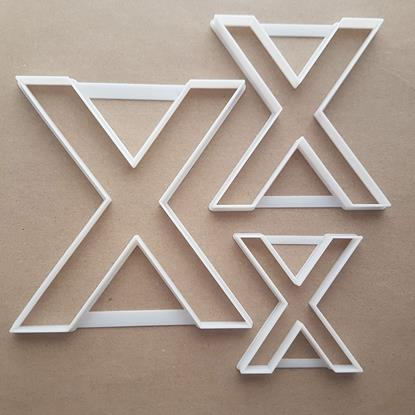 Letter X Alphabet Lower Shape Cookie Cutter Dough Biscuit Pastry Fondant Sharp Stencil Writing Case